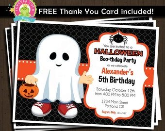 Halloween Birthday Invitation / Printable Halloween Invitation / Halloween Invitation / Halloween Party / Halloween Party Invitation