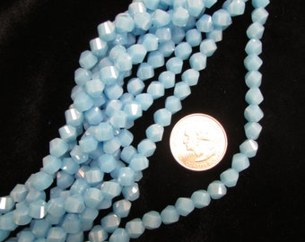 Chinese Crystal 8mm Twist Opaque Turquoise