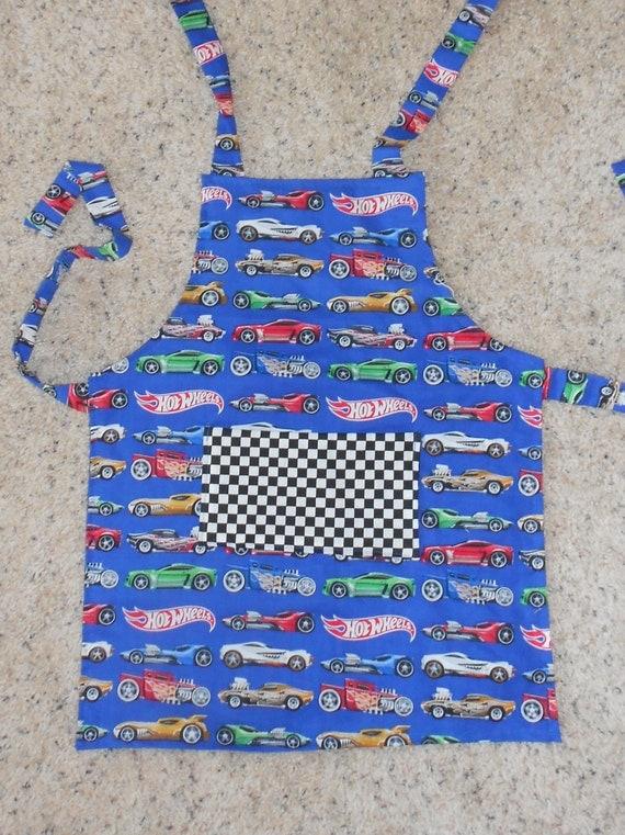 Hot Wheels Cars Kids Apron