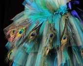 Add additional Peacock Feathers to Peacock Bustle Tutu and Mardi Gras Peacock Bustle Tutu
