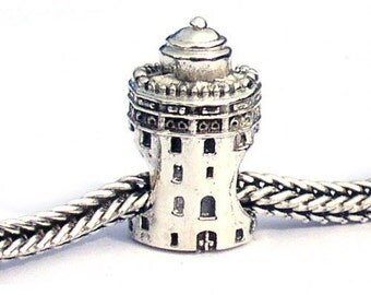 Torre Del Oro Sterling Silver Landmark Bead LM063