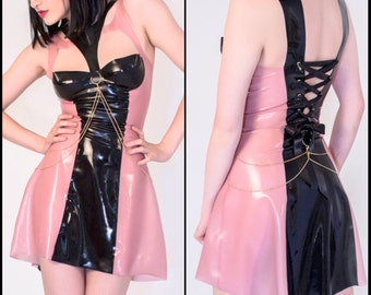 The NOIR Collection - Latex Skater Dress
