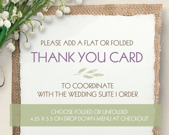 Wedding Thank you Cards Designed to Coordinate with your – Order Wedding Thank You Cards