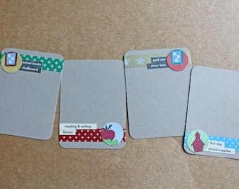 BACK TO SCHOOL Embellished Project Life Journaling Cards