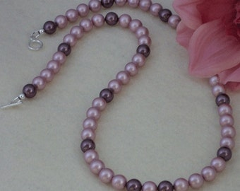 Swarovski  Crystal Pearl Necklace In A Charming Combination Of Colors   FREE SHIPPING