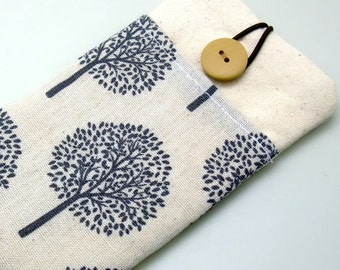 R6 iPhone sleeve, iPhone pouch, Samsung Galaxy S3, S4, Galaxy note, cell phone, ipod classic touch sleeve - Trees (b)