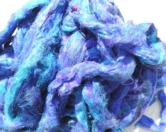 New Carded Sari Silk Fiber Roving Form 4 Ounces So So Soft And Easily Blended Several Colors To Pick From