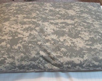Pet Bed Duvet Cover NY/CO Ripstop Military Grey Camouflage, 35x25 Canine Cloud Dog Bed Cover, Pet Furniture, Gift
