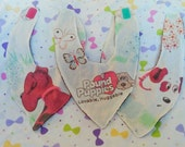 Pound Puppies Bandana baby bib SET OF 3 upcycled hipster vintage style by felices happy designs