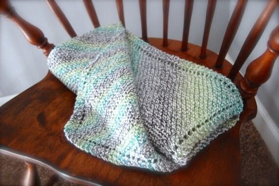 Diagonal Knit Baby Blanket