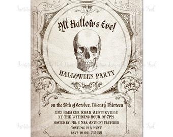 Halloween Invitation v.2 - All Hallows Eve - Customizable Wordings - Printable Invitation