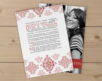 "Deposit for Erica LDS Wedding Invitation (5""x7"")"