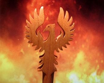 Hair Stick - Phoenix in Maple