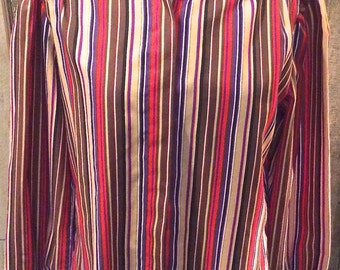 70s stripe button-down shirt