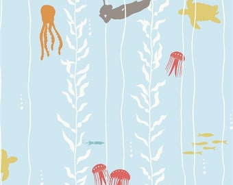 ORGANIC Kelp Dive - Beyond the Sea - Jay-Cyn Designs for Birch Fabrics