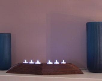 Convertible Claro Walnut Candle/ Tea Light Holder