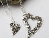 Mom And Daughter Necklace Set, Piece Of My Heart, Mother Daughter Jewelry