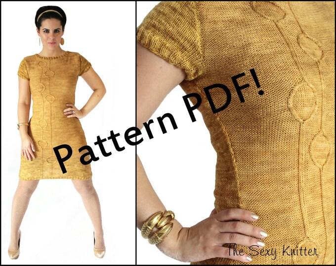 Mad Men Joan Holloway Knit Dress Pattern: PDF Knitting Pattern by The Sexy Knitter