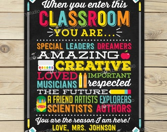 Classroom decoration etsy for Free travel posters for teachers