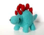 Stanley the Stegosaurus - Dinosaur Crochet Pattern. Instant Download Digital Crochet Pattern.