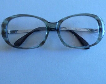 1970s Eyeware Heavy Plastc Frames with Metal Arms read D&S 302 and 54 20 Unisex