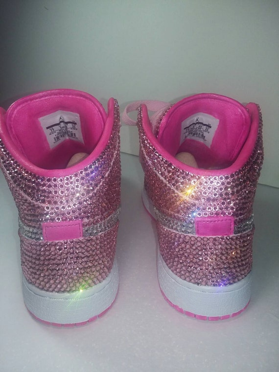 check out f5b40 342a6 Custom Nike Shoes Baby Blue Nike Swarovski by TheILLlines on Etsy on sale