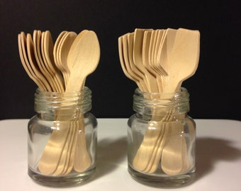 50 Mini Wood spoons... Crafting, ice cream, parties, stamping, painting