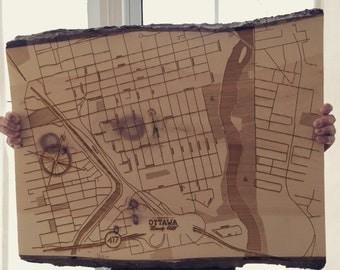 Urbanwood - Custom Laser Wood Map Posters
