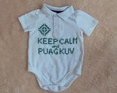 Hmong white keep calm onesie 3-6m