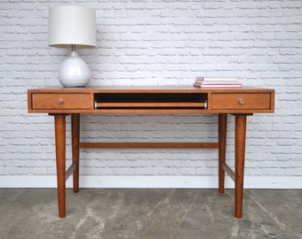 "Bloom Desk 54"" - Solid Cherry - Antique Cherry Finish - Danish Modern Style"