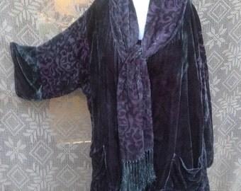 Twilight Velvet Scarf Jacket