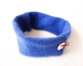 Cashmere Headband Earwarmer CORNFLOWER BLUE Ear Warmer Head Band Upcycled Sweater by WormeWoole