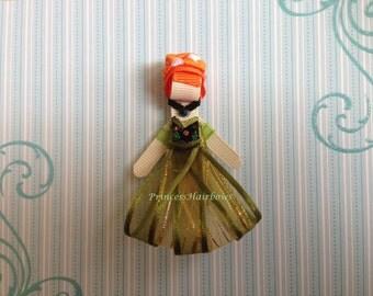 "Princess Anna"" Princess Hair Clip - Inspired by Disney- Birthdays, Party favor"