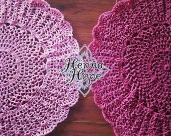 Custom Crochet Doily Floor Rug