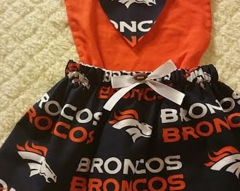 Broncos Outfit with skirt and bodysuit