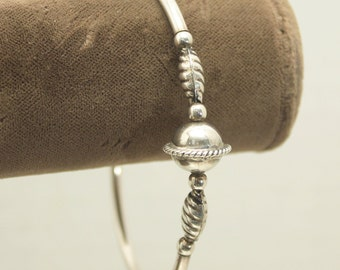 Silver Bangle, Narrow Bracelet, Petite Bangle