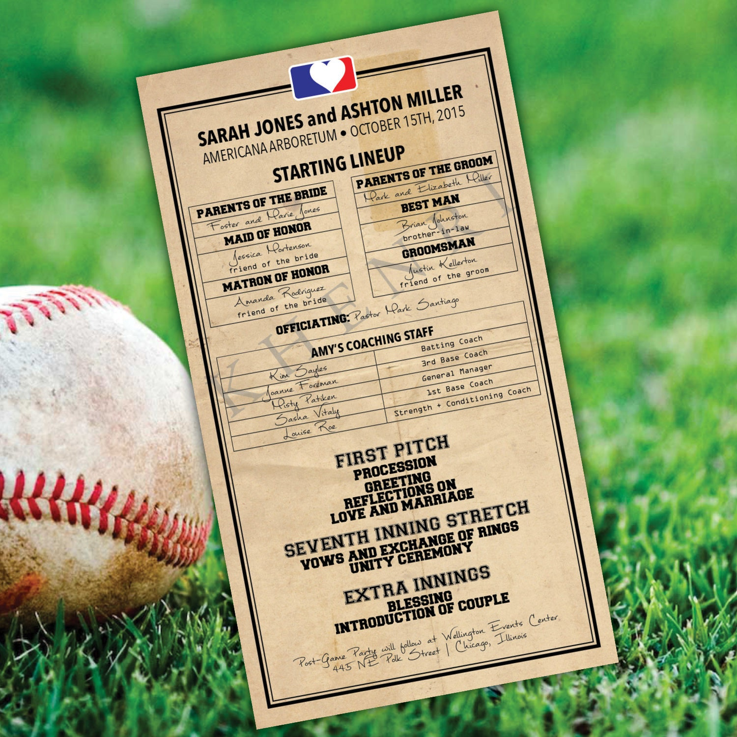 This is a photo of Mesmerizing Printable Lineup Card