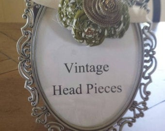 Green & Zipper Vintage Headband