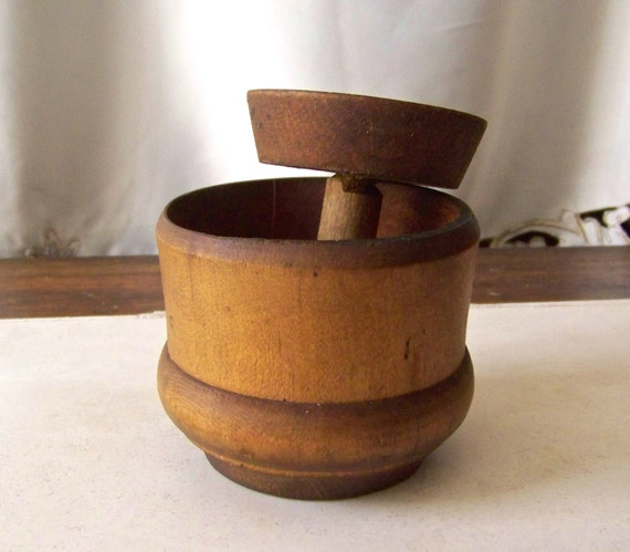 From Musty To Must See Kitchen: Vintage Butter Mold Wood Butter Press Primitive By
