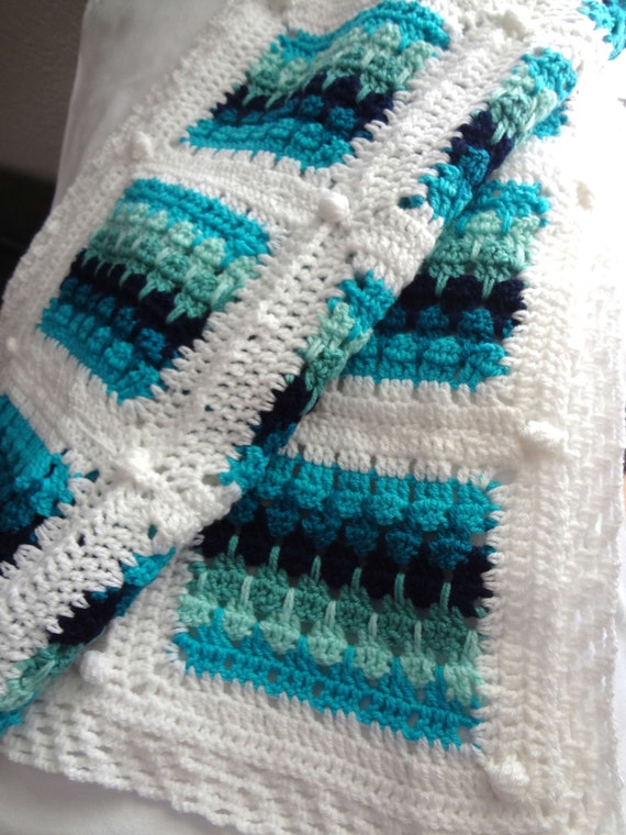Larksfoot Crochet Baby Blanket Pattern : CROCHET PATTERN Waves and Pebbles Blanket PDF pattern ...