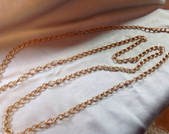 Vintage Crown Trifari Gold Chain Necklace
