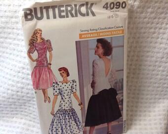 Vintage Butterick Pattern 4090, 80's dress