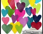 Journal It Hearts #1 - Digital Art Supplies By Angie Young