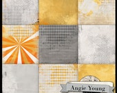 digital scrapbook art journal paper backgrounds collage mixed media supplies 12x12 - Time To Shine