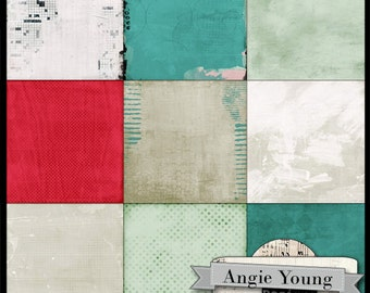 digital papers 12x12 backgrounds #11 Leap Fearlessly - Digital Art Supplies By Angie Young