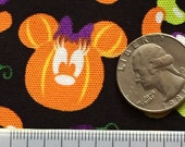 Sep Special Halloween disney Mickey pumpkin mouse  black colour fabric