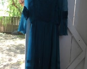 Absolutely stunning 1920s vintage the great gatsby blues dress xs/s