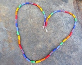 ROYGBIV - single strand necklace