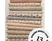 Bakers Dozen Fat Quarters - Downton Abbey Downstairs Collection