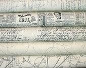 Modern Background Paper Cream Fat Quarter Bundle of 5 by Brigitte Heitland of Zen Chic for Moda